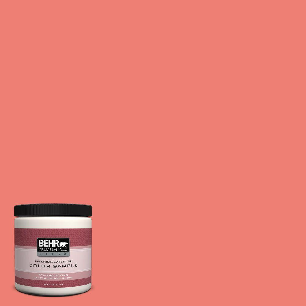 Coral paint colors Beach 170b5 Youthful Coral Matte Interiorexterior Paint And Primer In One Sample The Home Depot Behr Premium Plus Ultra Oz 170b5 Youthful Coral Matte Interior