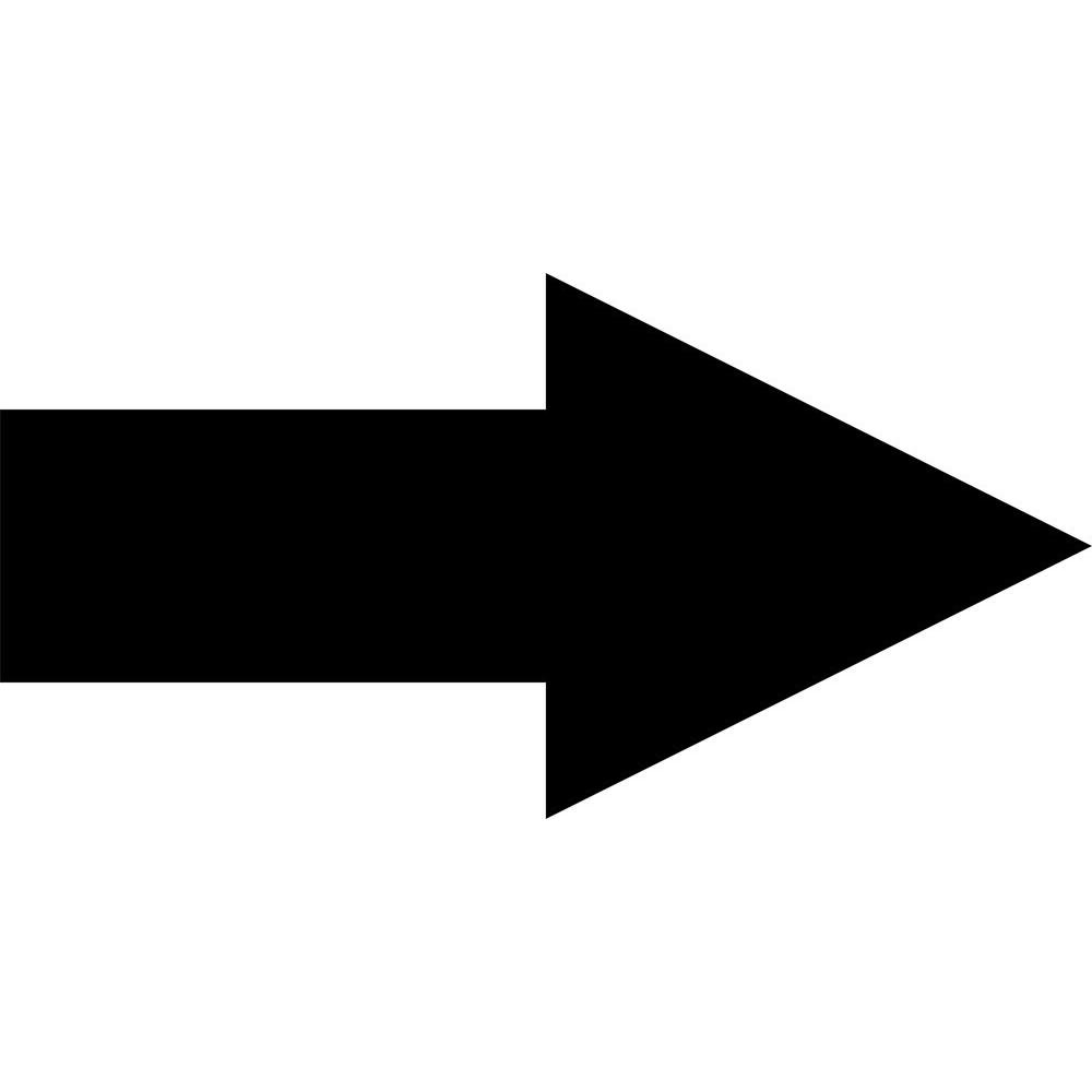 10 in. Arrow Sign Stencil