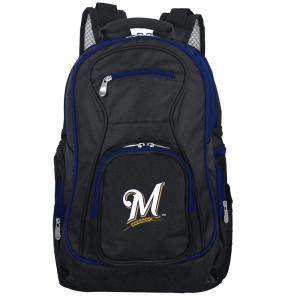 MLB Milwaukee Brewers 19 in. Black Trim Color Laptop Backpack