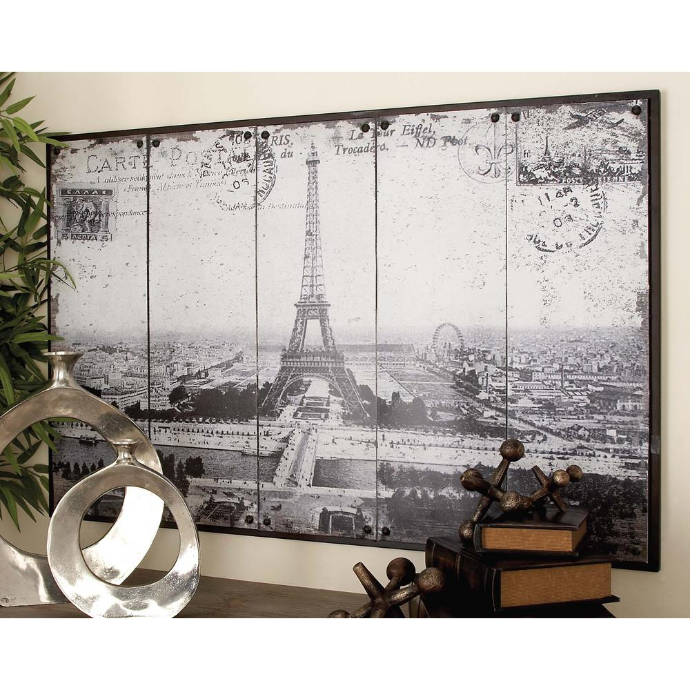 48 in x 31 in paris inspired gray scale eiffel tower postcard paris inspired gray scale eiffel tower postcard wall jeuxipadfo Images