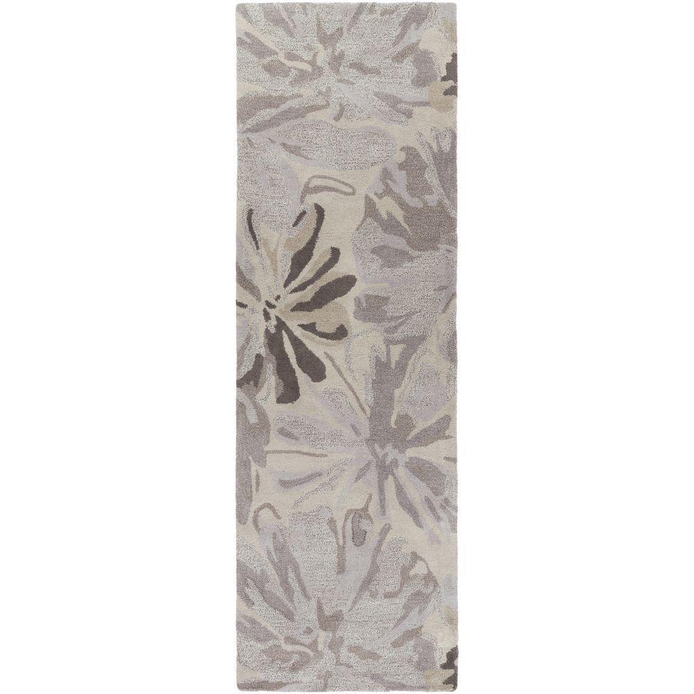 Amaranthus Gray 3 ft. x 8 ft. Indoor Runner Rug