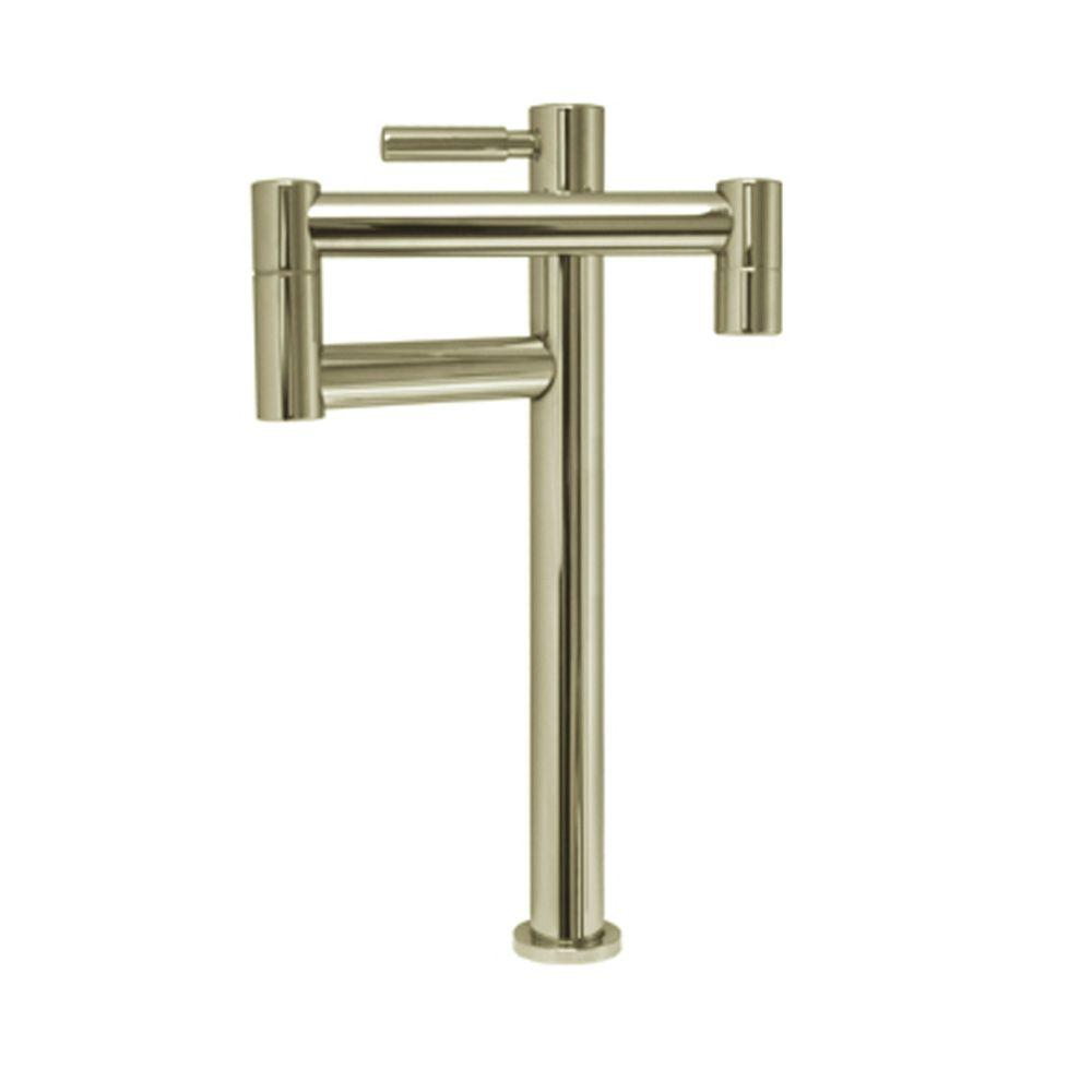 Whitehaus Collection Decohaus Deck-Mounted Potfiller in Brushed Nickel