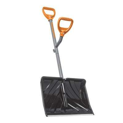 18 in. Steel Shaft Impact Resistant Snow Shovel