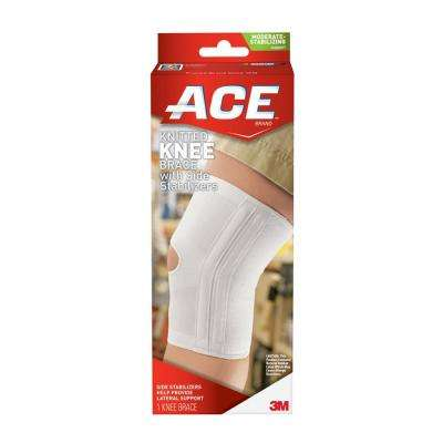Large Knitted Knee Brace with Side Stabilizers