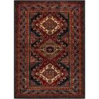 Naime Dark Red 9 ft. x 13 ft. Indoor Area Rug