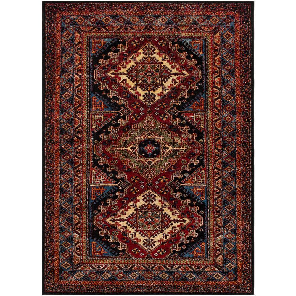 Serapi Dark Red 6 ft. 7 in. x 9 ft. 6 in. Indoor Area Rug