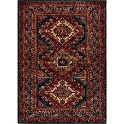 Serapi Dark Red 8 ft. x 11 ft. Indoor Area Rug