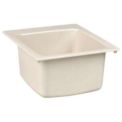 17 in. x 20 in. Fiberglass Self-Rimming Utility Sink in Biscuit