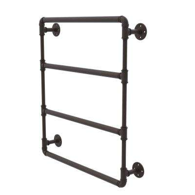 Pipeline Collection 30 in. Wall Mounted Ladder Towel Bar in Oil Rubbed Bronze