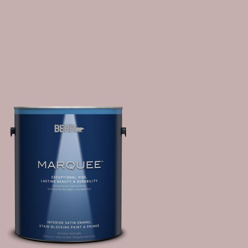 BEHR MARQUEE 1 gal. #MQ1-45 Versailles Rose One-Coat Hide Satin Enamel Interior Paint