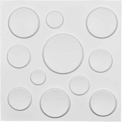 1 in. x 19-5/8 in. x 19-5/8 in. White PVC Cosmo EnduraWall Decorative 3D Wall Panel