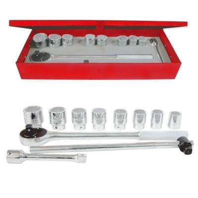 3/4 in. Drive 12-Point Hand Socket & Accessories Set (11-Piece)