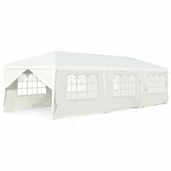 Casainc 10 Ft X 30 Ft White Outdoor Party Wedding Tent Canopy Heavy Duty Gazebo Wfop3936 The Home Depot