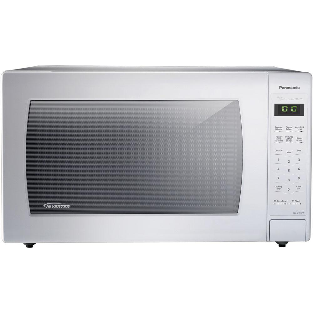 Panasonic 2 Cu Ft Countertop Microwave In White Built Capable With Sensor Cooking And Inverter Technology Nn Sn936w The Home Depot