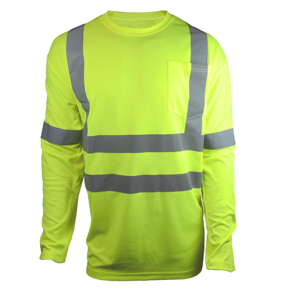 ANSI Class 3 Medium Hi-Visibility Long Sleeve Shirt with Reflective Tape