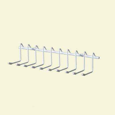 10-Hook Horizontal Tie and Belt Rack