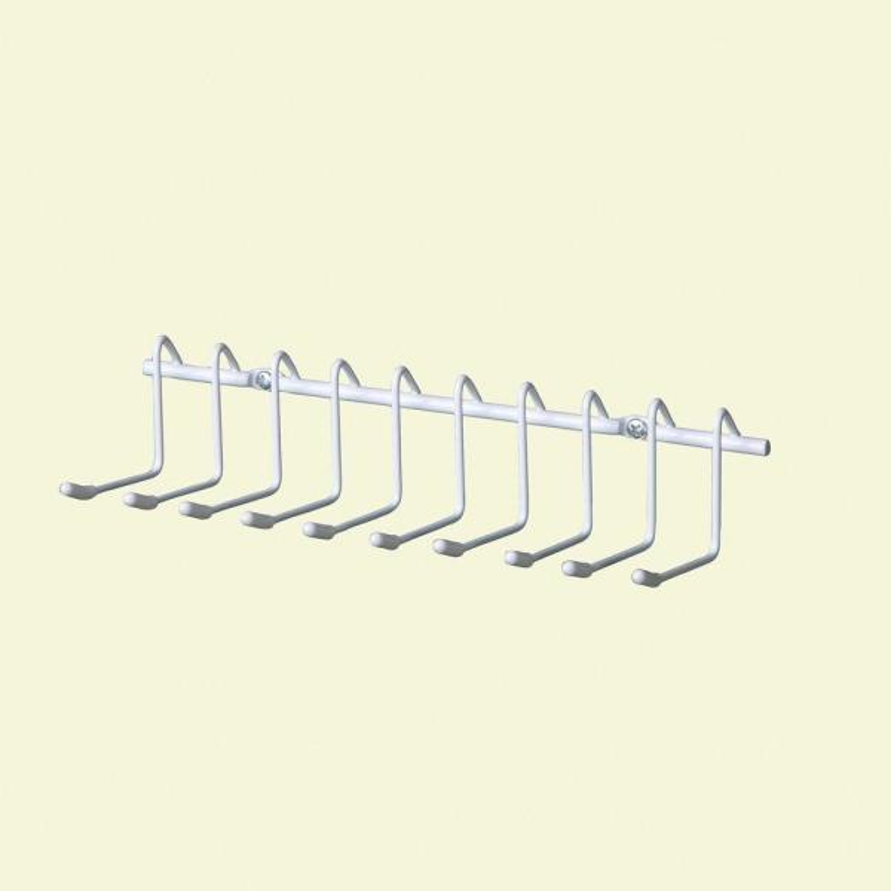 10-Hook Horizontal Tie and Belt Rack