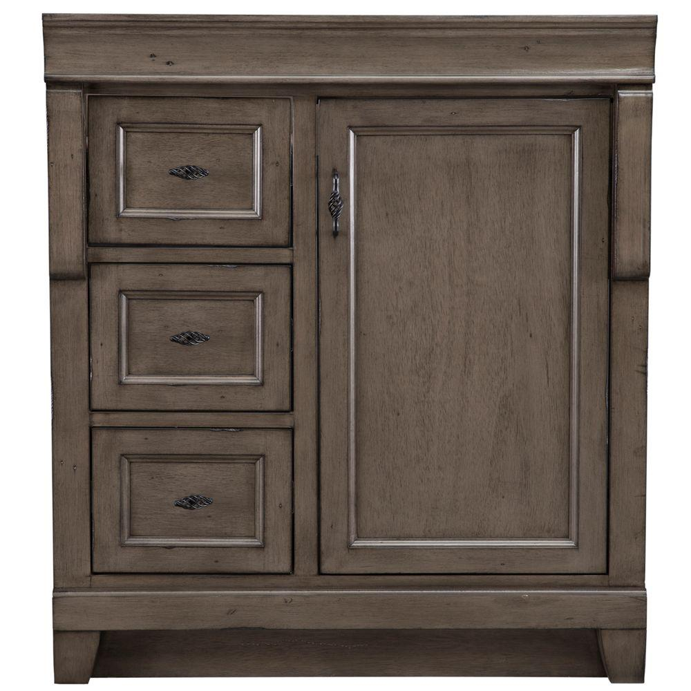 Home decorators collection naples 30 in w bath vanity - Bathroom vanity with drawers on left ...