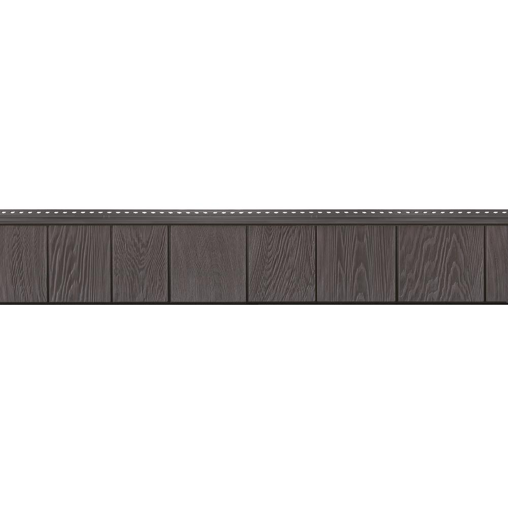 8-1/2 in. x 60-3/4 in. Aged Grey Engineered Rigid PVC Shingle