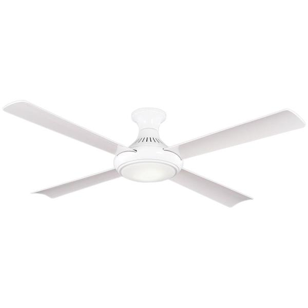 Waywood 56 in. LED Indoor White Ceiling Fan with Remote Control