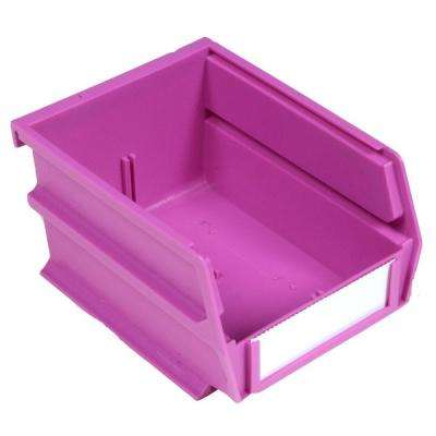 LocBin 5-3/8 in. x 4-1/8 in. x 3 in. Stacking, Hanging, Interlocking Polypropylene Bin in Orchid (24-Piece)