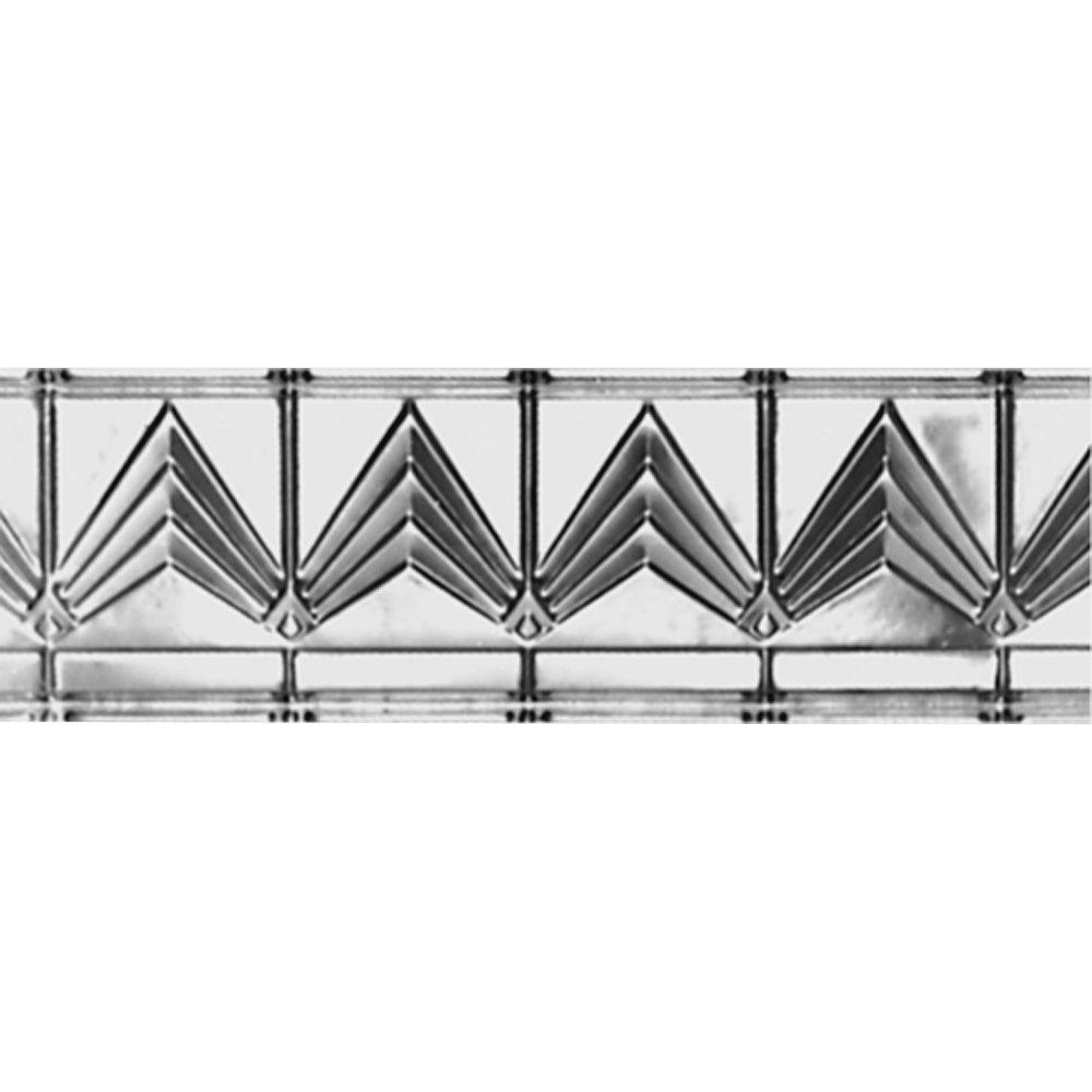 Shanko Home Interiors 6-pieces Decorative Nail-up Bare Steel Tin Ceiling Cornice