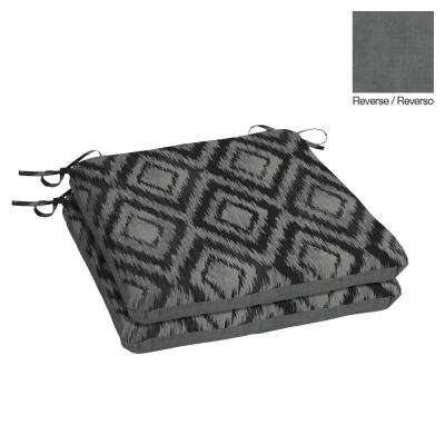 20 x 19 Jackson Ikat Diamond Outdoor Chair Cushion (2-Pack)