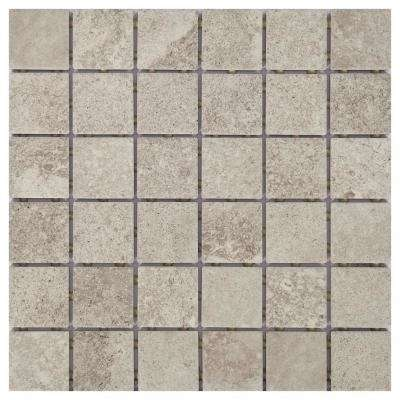 Hastings Gray 12 in. x 12 in. x 6.35mm Glazed ceramic Mosaic Floor and Wall Tile (1 sq. ft. / piece)