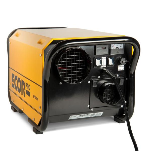 200 Pint Portable Industrial Desiccant Dehumidifier for Basement, Crawl Space, Whole House and Warehouses - Yellow