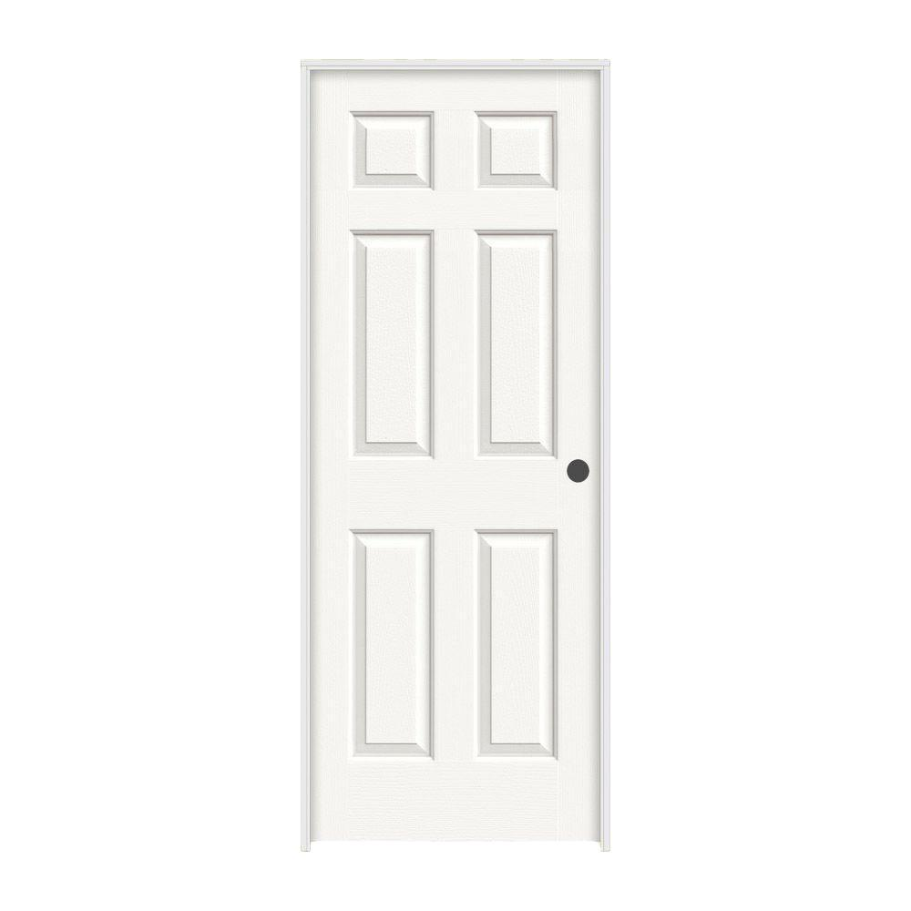 Jeld Wen 24 In X 80 In Colonist White Painted Left Hand Textured Molded Composite Mdf Single