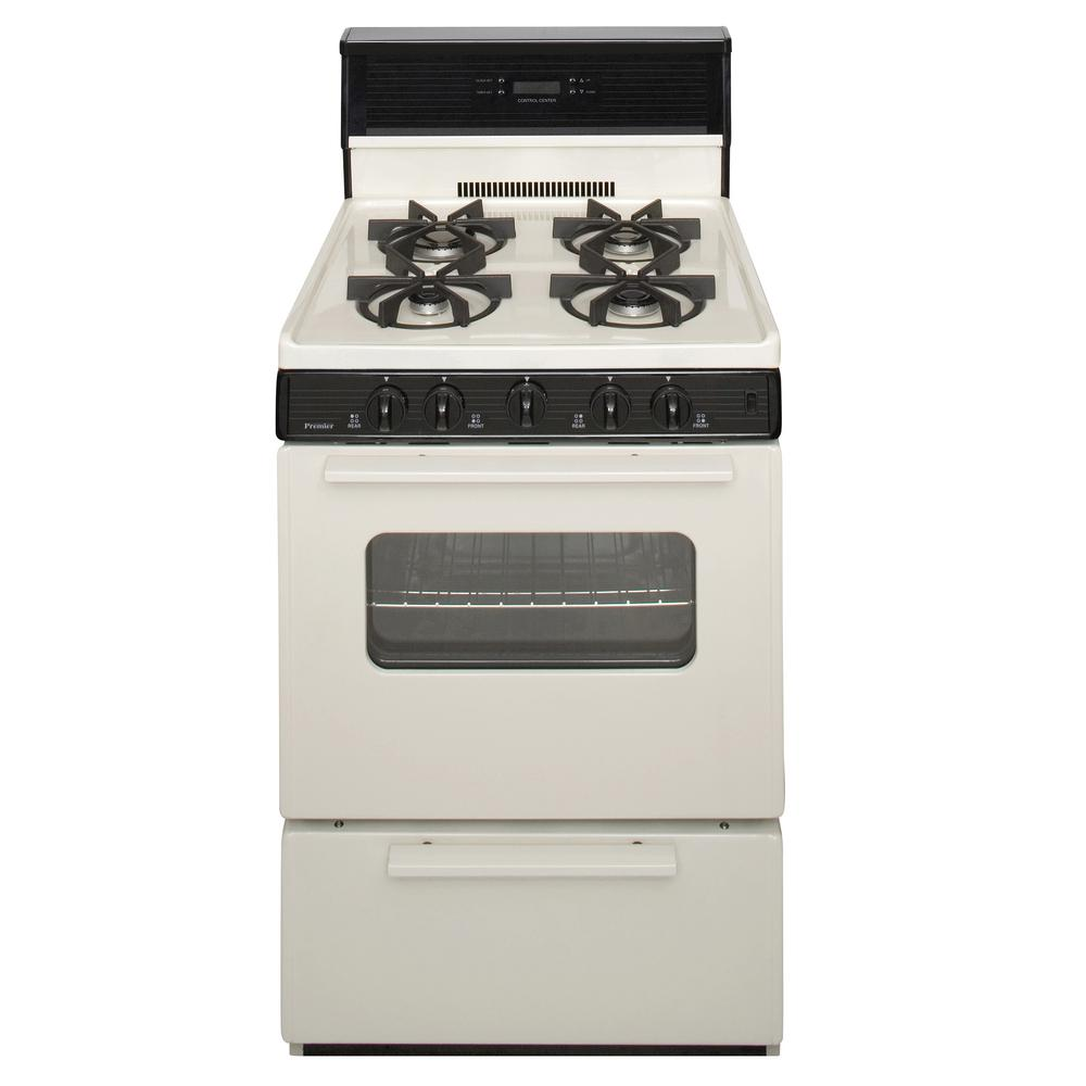 Premier 24 in. 2.97 cu. ft. Gas Range Burners in Biscuit