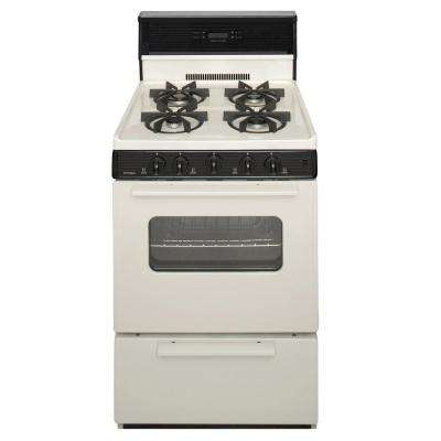 24 in. 2.97 cu. ft. Gas Range Burners in Biscuit