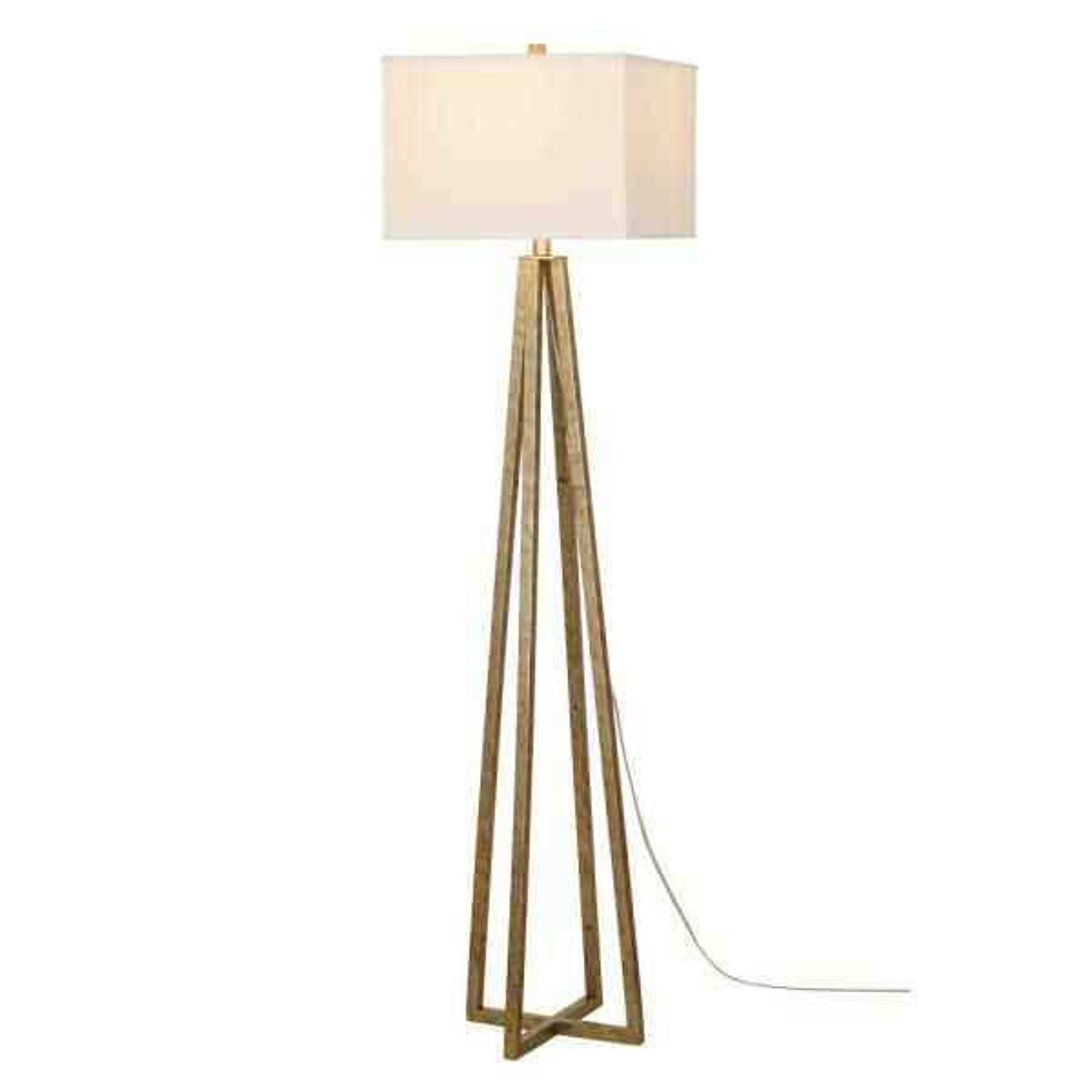 Silver Leaf Transitional Floor Lamp