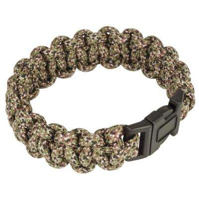 9 in. Paracord Bracelet, Forest Camouflage