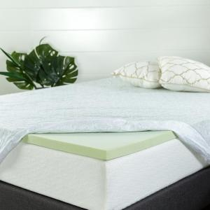 Deals on Zinus 1.5 in. King Memory Foam Mattress Topper