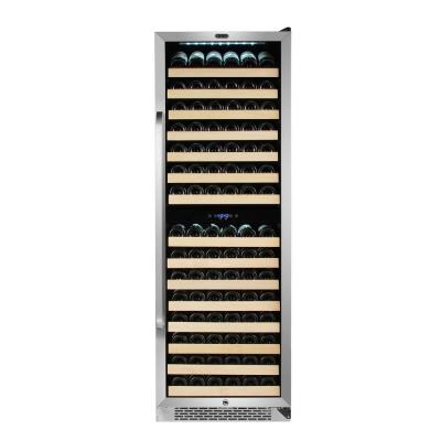 164-Bottle Built In Stainless Steel Dual Zone Compressor Wine Cooler with Display Rack and LED Display