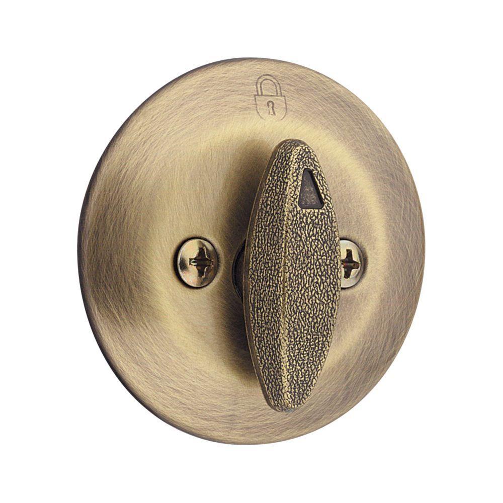 Kwikset 663 Single-Sided Deadbolt in Polished Brass
