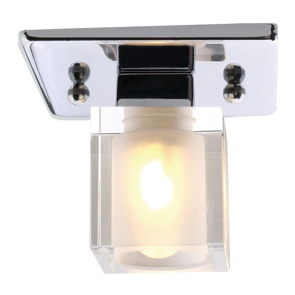 Spike 1-Light Chrome Ceiling Light