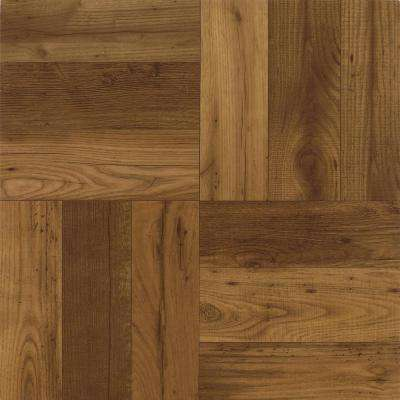 Criswood Russet Oak 12 in. x 12 in. Residential Peel and Stick Vinyl Tile Flooring (45 sq. ft. / case)
