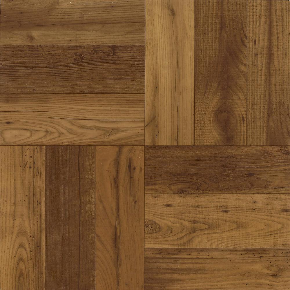 Criswood Russet Oak 12 in. x 12 in. Residential Peel and Stick Vinyl Tile Flooring (45 sq. ft. / case)
