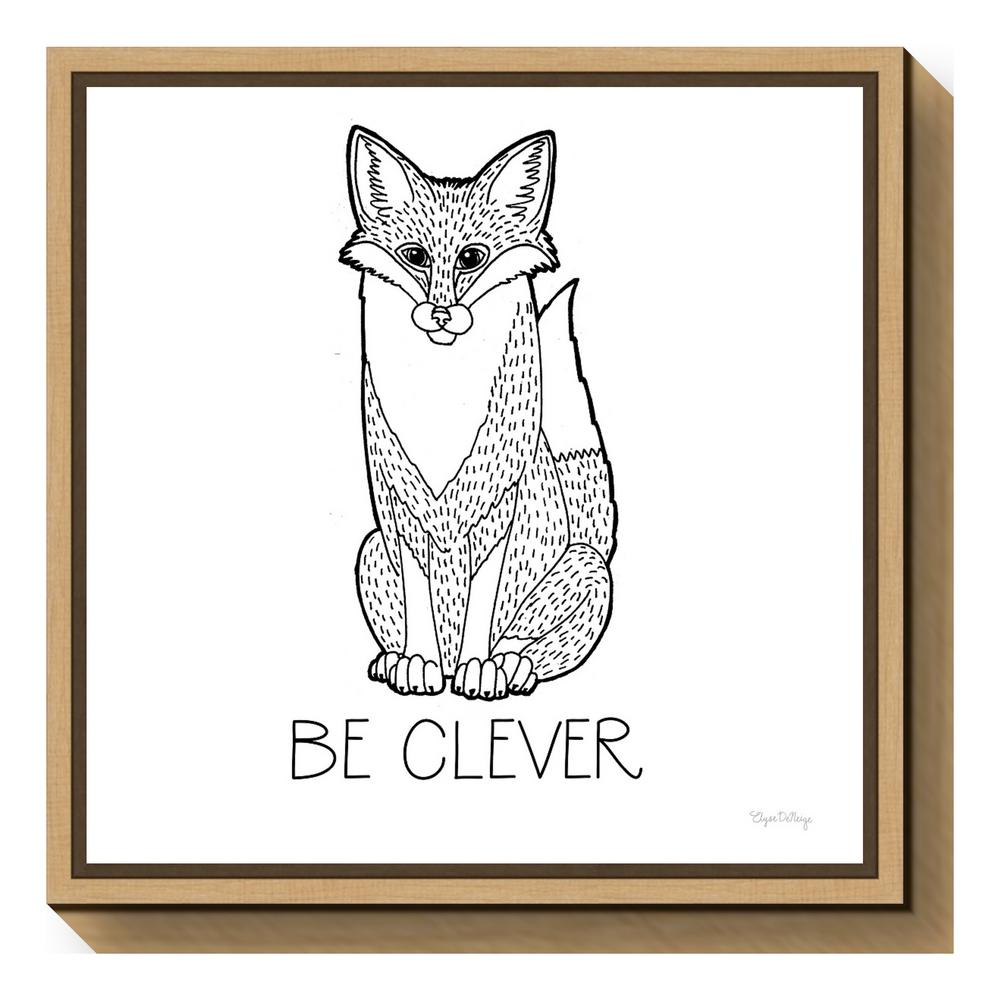 """Color the Forest IV Be Clever"" by Elyse Deneige Framed Canvas"