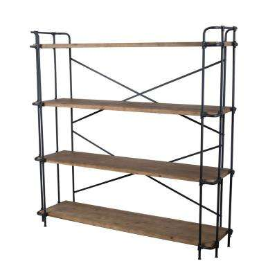 Yorktown Antique 4-Shelf Etagere Open Bookcase