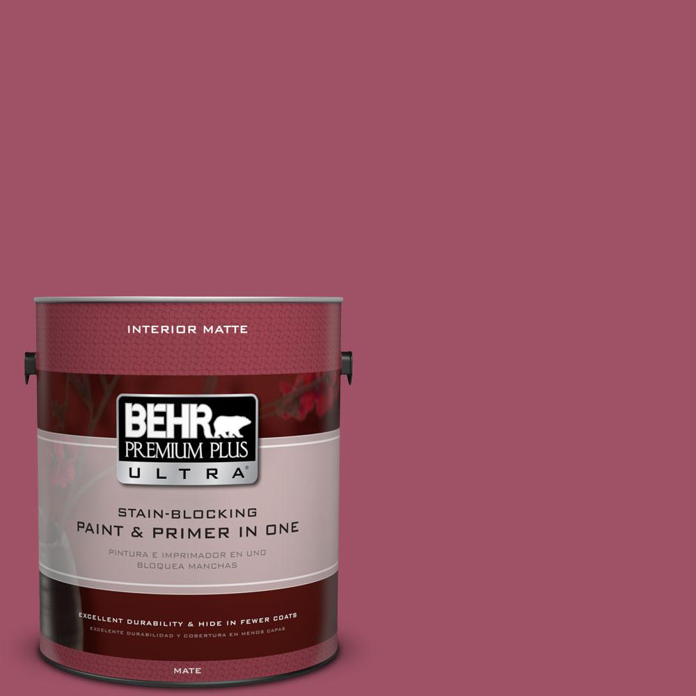 1 gal. #110D-5 Mission Wildflower Matte Interior Paint and Primer in