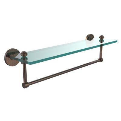 Southbeach Collection 22 in. Glass Vanity Shelf with Integrated Towel Bar in Venetian Bronze