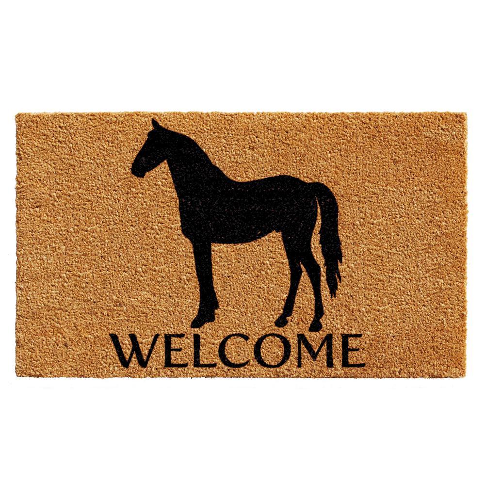 Horse Welcome Door Mat 17 in. x 29 in.