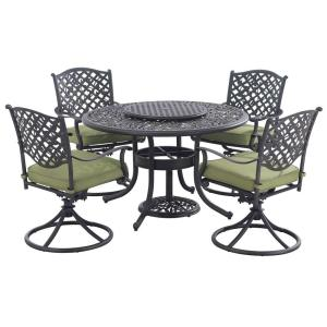 Sunjoy Vining 7-Piece Patio Dining Set with Green Cushions by Sunjoy