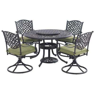 Vining 7-Piece Patio Dining Set with Green Cushions