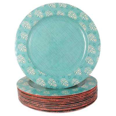 Solina Aqua Melamine Dinner Plate (Set of 12)