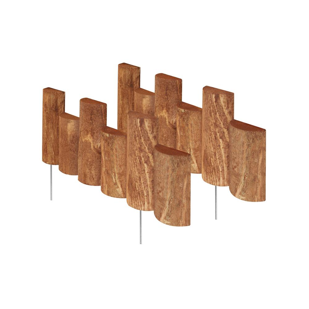 Greenes Fence 18 in. Half Log Edging (2-Pack)