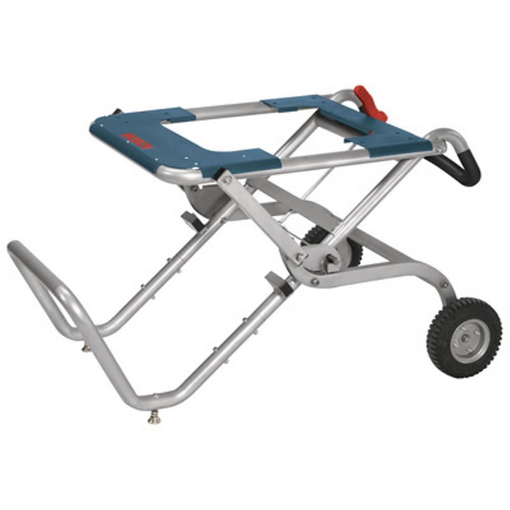 Bosch Portable Folding Gravity Rise Table Saw Stand With Wheels